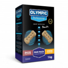 Olympic Professional Bacon & Cheese Duo Dog Biscuits - 1kg
